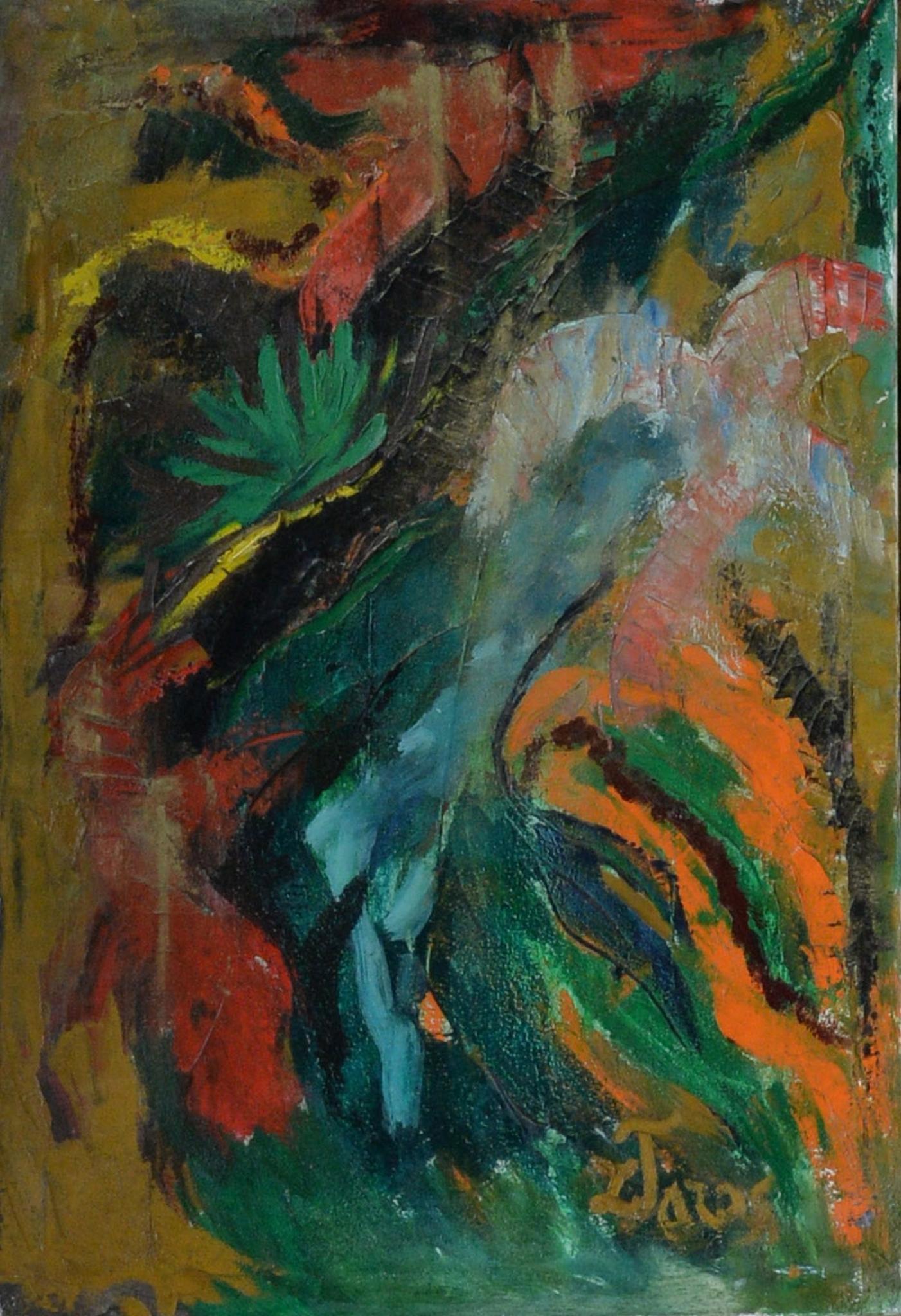 Abstraktas (žalias). Diptikas