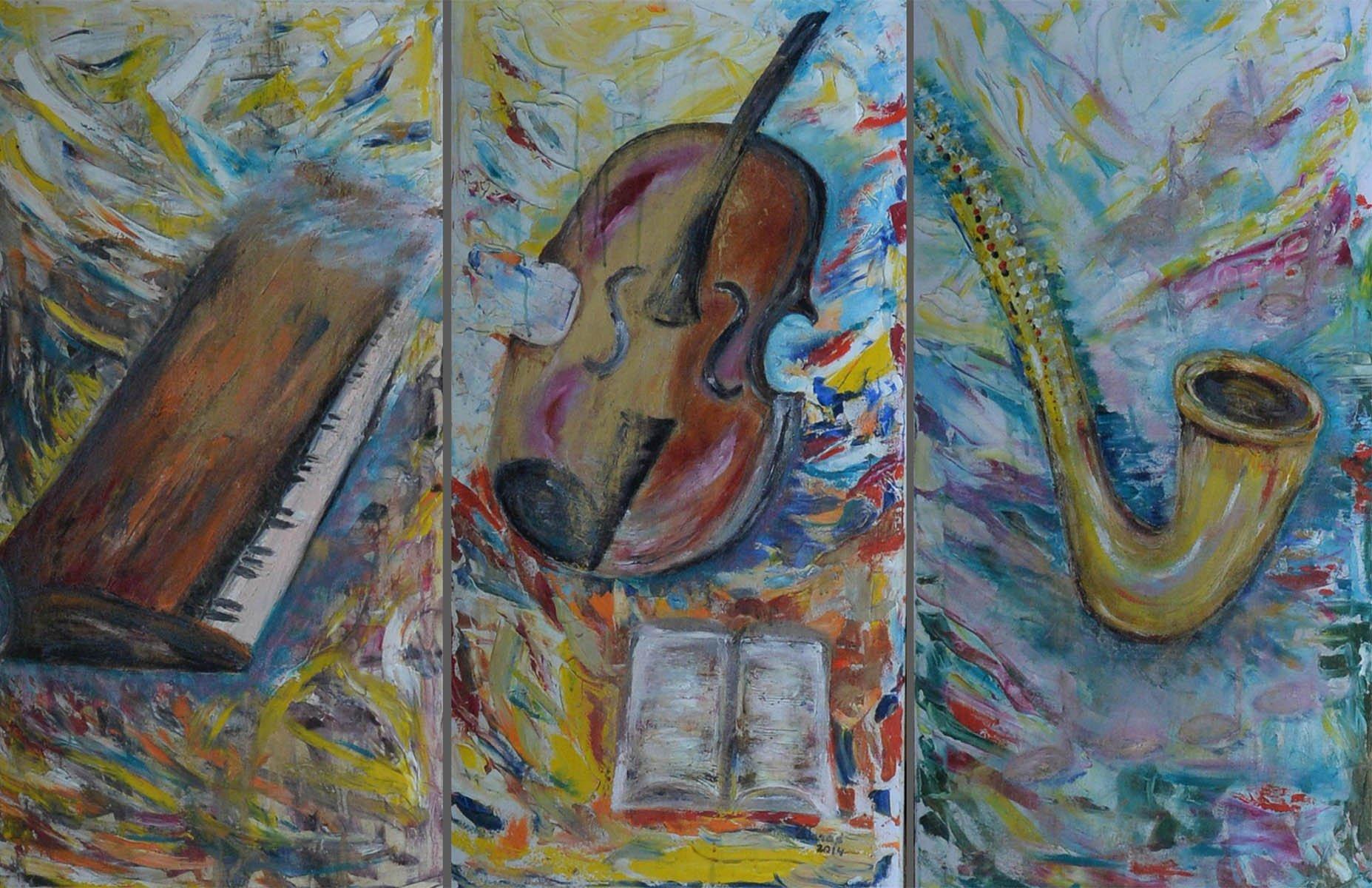 Muzikos instrumentai. Triptikas