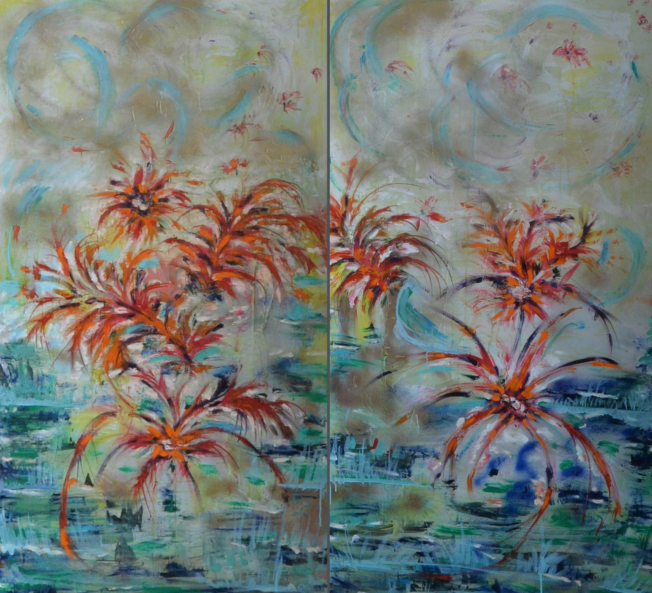 My Mother's Flowers (Diptych)